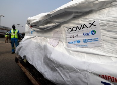 The first shipment of Covid-19 vaccines distributed by Covax