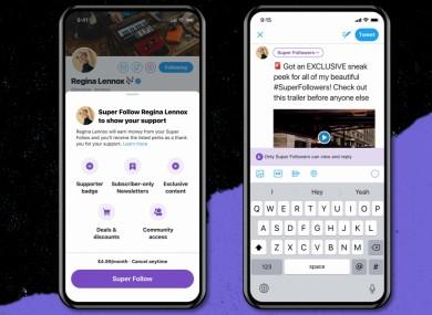 Twitter Super Follows feature