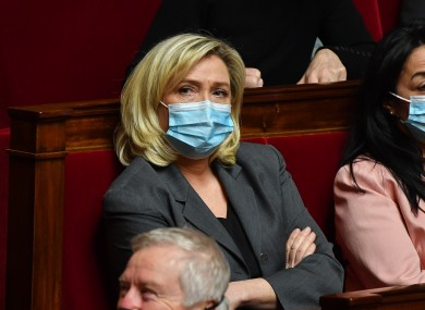 Marine Le Pen at the Questions to Government National Assembly in Paris on 19 January