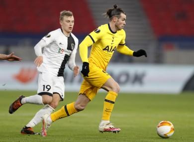 Gareth Bale on the ball.