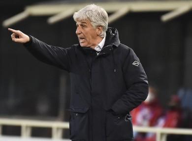 Atalanta's head coach Gian Piero Gasperini (file pic).