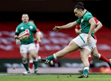 Ireland wing James Lowe put his left boot to good use in Cardiff.