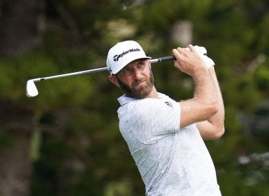 Dustin Johnson is leading the way in the Saudi International.