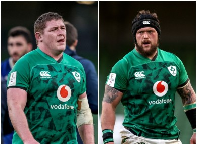 Tadhg Furlong and Andrew Porter give Ireland two strong tighthead options.