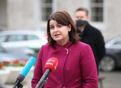 Social Democrats TD Jennifer Whitmore pictured outside Leinster House last week