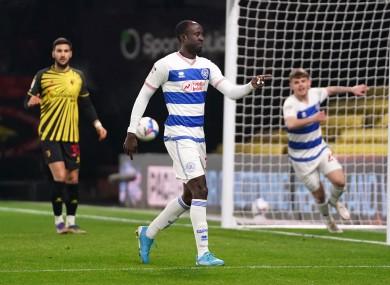 Albert Adomah after scoring the winner for QPR.