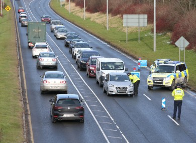 File photo - Gardaí carrying out checkpoints on the M1