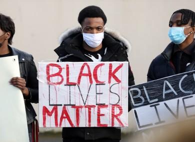 Black Lives Matter protesters in Dublin.