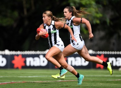 Sarah Rowe and Aisling Sheridan will be in action for Collingwood (file photo).