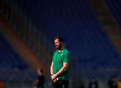 Ireland boss Andy Farrell in Rome.