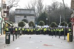 Gardaí outside St Stephen's Green on Saturday