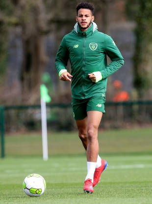 Cotter at Ireland U21 training in 2019.