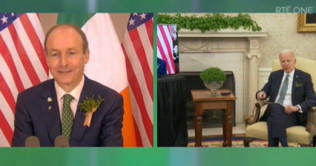 Taoiseach speaks of 'undying friendship' between Ireland and US in virtual meeting with Joe Biden