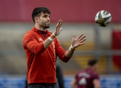 Murray training with Munster in Thomond Park this week.