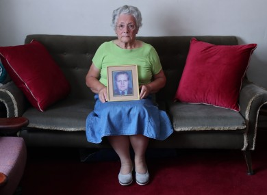 Bernie Morrissey, widow of Garda Sergeant Patrick Morrissey who was killed by the INLA in 1985.