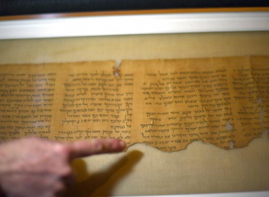 A view of the Dead Sea Scrolls