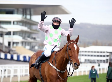 Monkfish after claiming his second Cheltenham Festival success.