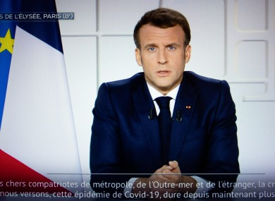 French President Emmanuel Macron in a televised address to the nation this evening.