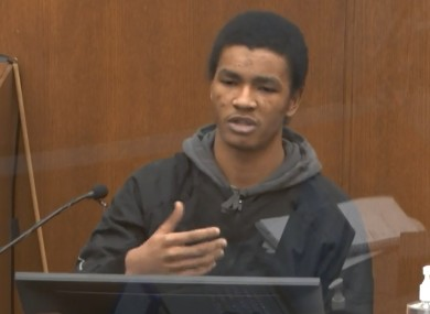 Witness Christopher Martin answers questions in a US court today.