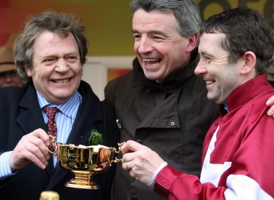 Celebrations as War Of Attrition wins the 2006 Gold Cup.