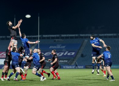 Action from the last Ulster/Leinster game.