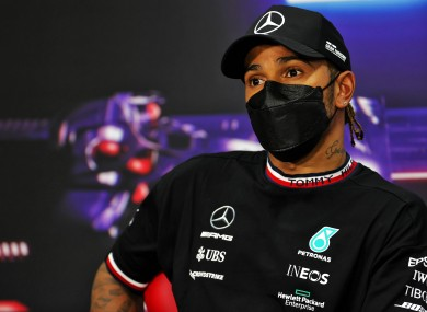 Lewis Hamilton pictured today in Bahrain.
