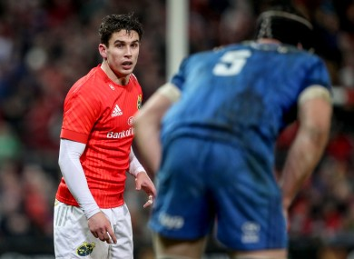 Carbery is set to start against Leinster.