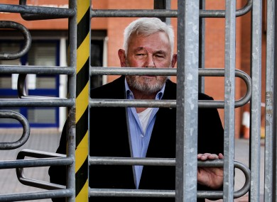 File image: John Gilligan leaving Coleraine Magistrates' Court after a district judge dismissed a possession of criminal property charge against him, 2019.
