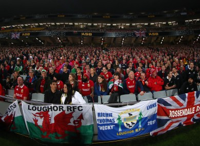 Lions fans on the New Zealand tour in 2017.