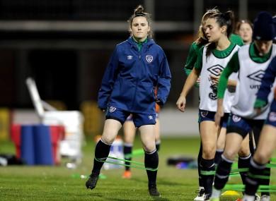 Niamh Reid-Burke during Ireland training.