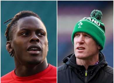Maro Itoje and Paul O'Connell.