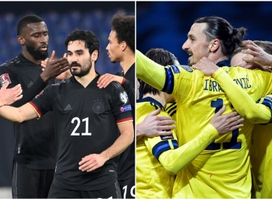 Ilkay Gundogan netted for Germany while Zlatan celebrated a win for Sweden.