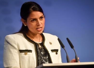 British Home Secretary Priti Patel