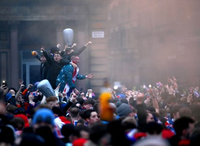 One of the scenes in Glasgow yesterday.