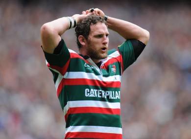 Craig Newby finished his playing career at Leicester Tigers.