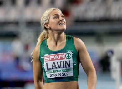 Sarah Lavin pictured after her semi-final.