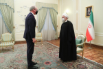 Foreign Affairs Minister Simon Coveney meeting with Iranian President Hassan Rouhani