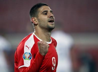 Serbia striker Aleksandar Mitrovic.