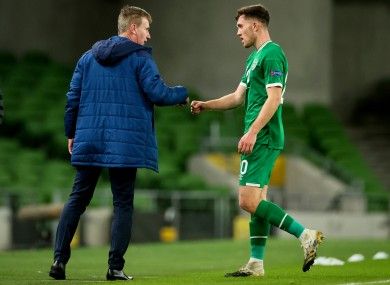 Dara O'Shea (R) has defended Stephen Kenny's position as Republic of Ireland manager.
