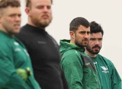 O'Halloran and, right, Paul Boyle at training this week.