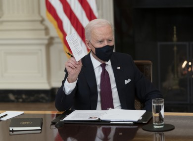 File image of Joe Biden last week.