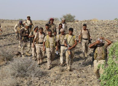 Yemeni government forces launch an offensive against Huthi rebels