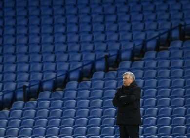 Everton manager Carlo Ancelotti.
