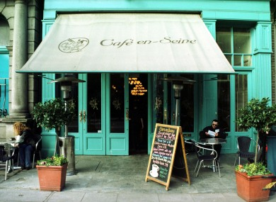 The auction includes old pieces from Cafe En Seine on Dawson Street. File photo from 1999.