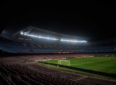 A general view of Camp Nou.