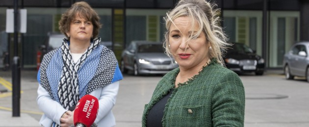 First Minster Arlene Foster and Deputy First Minister Michelle O'Neill pictured last month.
