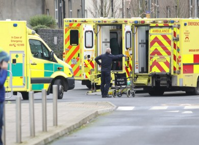 File image of an ambulance outside the Mater Hospital in Dublin in February.
