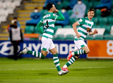 Danny Mandroiu celebrates his goal.