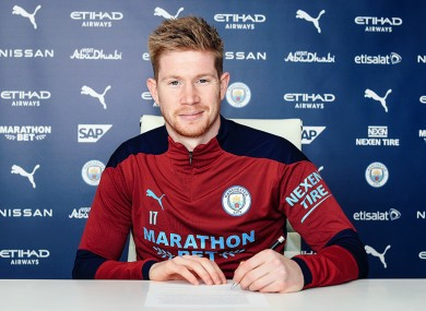 Kevin De Bruyne has signed a new contract extension at Manchester City.