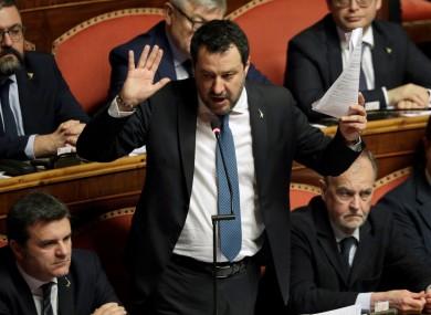 Former Italian interior minister, Matteo Salvini